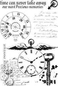 Paperartsy Ink & the Dog - Clocks Plate 1