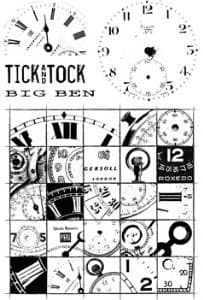 Paperartsy Ink & the Dog - Clocks Plate 2