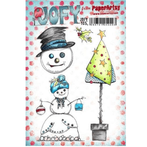 PaperArtsy Mounted Rubber Stamp Set JOFY Collection 105 - JOFY105