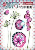 PaperArtsy Mounted Rubber Stamp Set JOFY Collection 74 - JOFY74