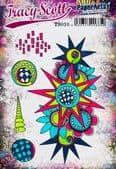 PaperArtsy Mounted Rubber Stamp Set - Tracy Scott 10