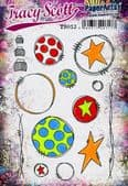 PaperArtsy Mounted Rubber Stamp Set - Tracy Scott 13