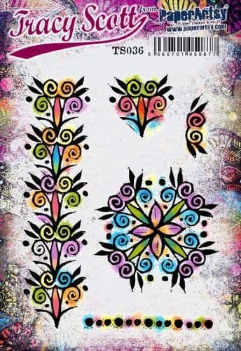 PaperArtsy Mounted Rubber Stamp Set - Tracy Scott 36