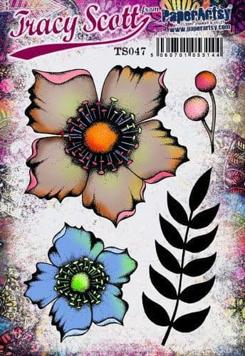 PaperArtsy Mounted Rubber Stamp Set - Tracy Scott 47
