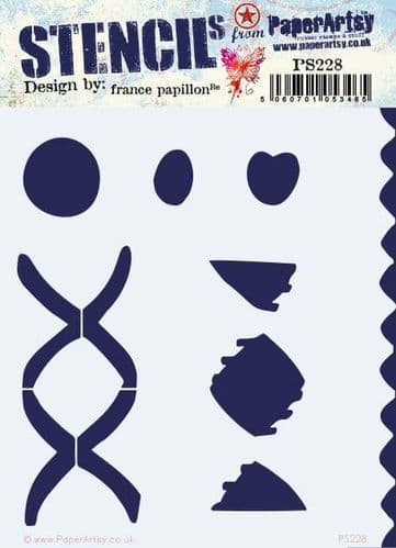 PaperArtsy Stencil - France Papillon {FP} 228 - PS228