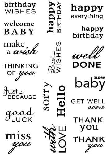 Paula Pascual Designs Clear Stamp - Big Sentiments