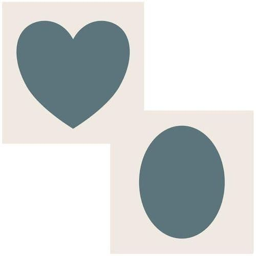 Phill Martin Sentimentally Yours Aperture Stencil - Heart and Oval