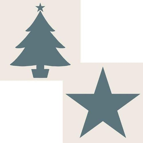 Phill Martin Sentimentally Yours Aperture Stencil - Star and Christmas Tree