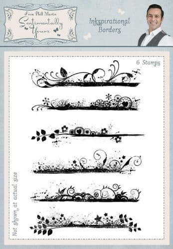 Phill Martin Sentimentally Yours Clear Stamp Set - Inkspirational Borders