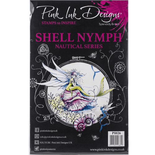 Pink Ink Designs A5 Stamp Set - Shell Nymph