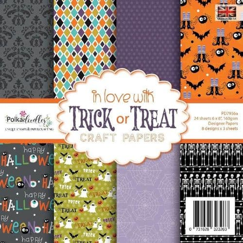 Polkadoodles 6x6 Paper Pack - In Love With Trick or Treat