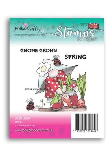 Polkadoodles Clear Stamp Set - Gnome Grown