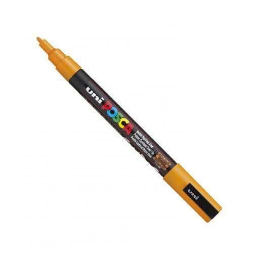 Posca - PC-3M Fine Bullet Tip - Water Based Paint Marker - Bright Yellow