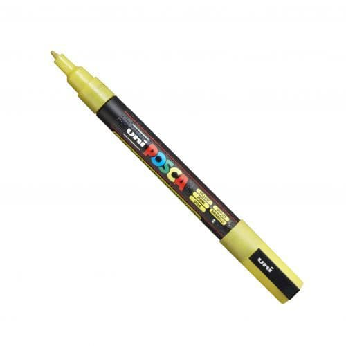 Posca - PC-3ML Fine Bullet Tip - Water Based Paint Marker - Sparkling Yellow