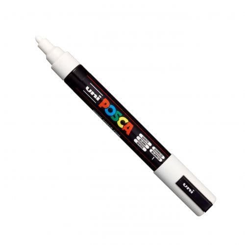 Posca - PC-5M Medium Bullet Tip - Water Based Paint Marker - White