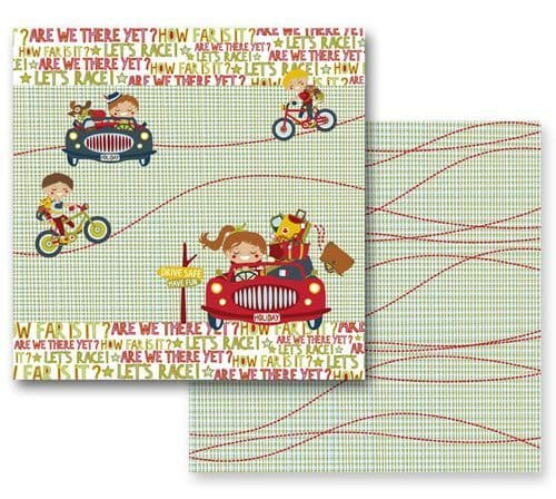 PrimaMarketing 12x12 Paper - Road Trip Collection - Road Trip