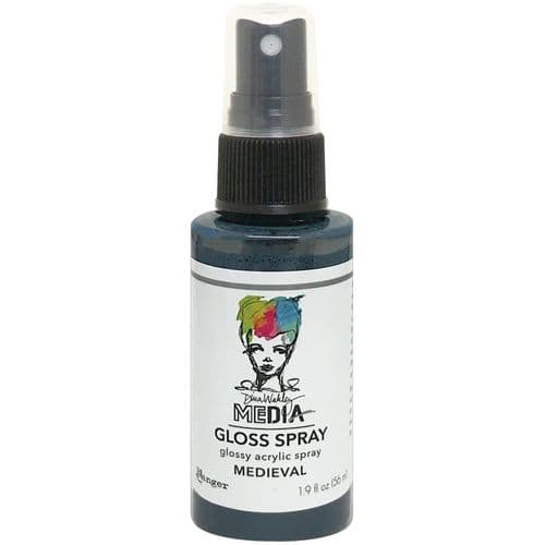Ranger Dina Wakley Media Gloss Spray 2oz - Medieval