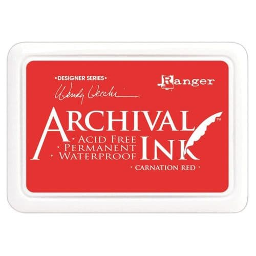 Ranger Wendy Vecchi Archival Ink Pad - Carnation Red