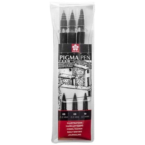 Sakura Pigma Pen Set - Black