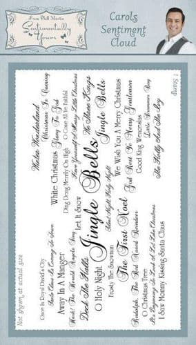 Sentimentally Yours Rubber Stamp - Jingle Bells Sentiment Cloud