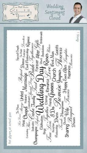 Sentimentally Yours Rubber Stamp - Wedding Sentiment Cloud