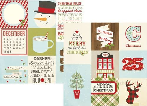 Simple Stories - Classic Christmas - Vertical Elements 12x12 Paper