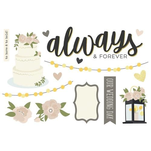 Simple Stories Simple Pages Page Pieces - Wedding