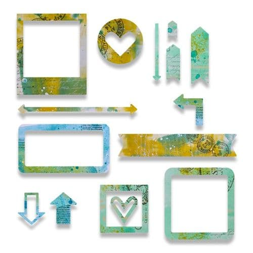 Sizzix - Thinlits Die Set 15pk - Frames - 662669