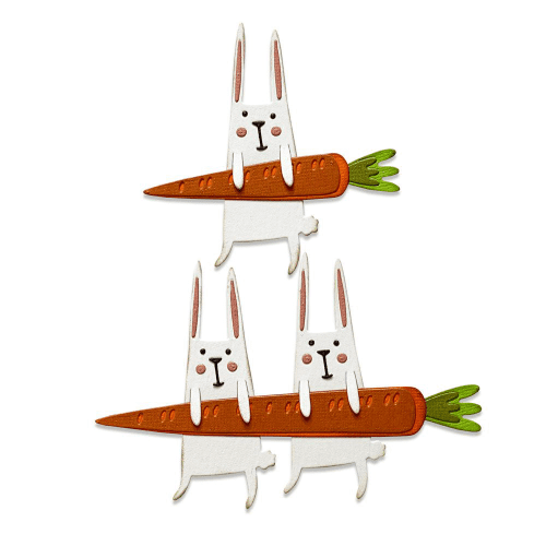 Sizzix Tim Holtz - Thinlits Die Set 11pk - Carrot Bunny