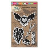 Stampendous - Andy Skinner Handle With Care - Cling Rubber Stamp Set - ASCR07