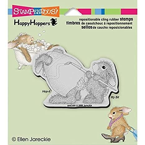 Stampendous - House Mouse Easter Bunny - Cling Rubber Stamp - HHCV01
