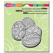 Stampendous - Penpattern Eggs - Cling Rubber Stamp - CRQ208