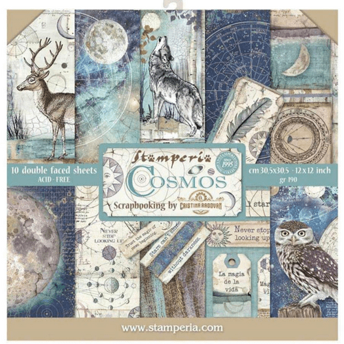 Stamperia 12x12 paper pad - Cosmos - SBBL56