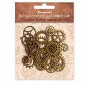 Stamperia Scrapbook Embellishments - Metal Gears