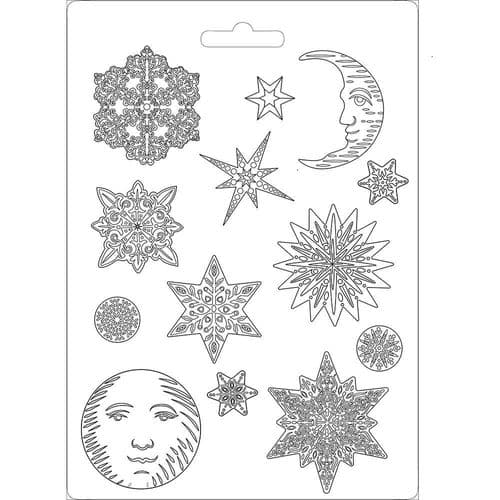 Stamperia Soft Mould A4 - Winter Tales Snowflakes