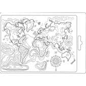 Stamperia Texture Impression Soft Mould A5 - Map of the World - K3PTA544