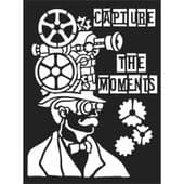 Stamperia Thick A5 Stencil - Capture the Moments - KSAT02