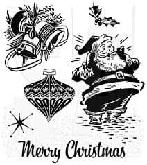 Stampers Anonymous/Tim Holtz - Cling Mount Stamp Set - Christmas Memories - CMS118