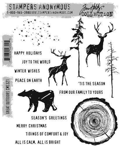 Stampers Anonymous/Tim Holtz - Cling Mount Stamp Set - Great Outdoors - CMS321