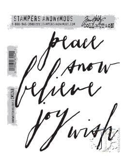 Stampers Anonymous/Tim Holtz - Cling Mount Stamp Set - Handwritten Holidays 3 - CMS248