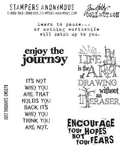 Stampers Anonymous/Tim Holtz - Cling Mount Stamp Set - Just Thoughts – CMS078