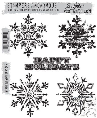 Stampers Anonymous/Tim Holtz - Cling Mount Stamp Set - Weathered Winter - CMS245