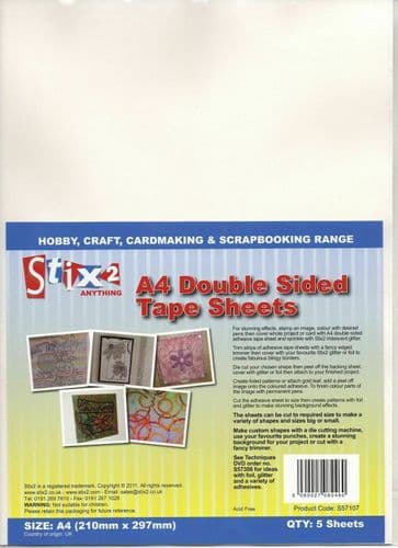 Stix2 A4 Double-Sided Adhesive Tape Sheets
