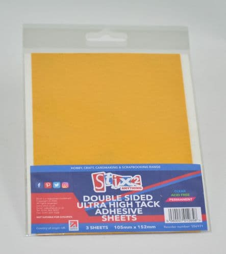 Stix2 Double Sided Polyester Ultra Sticky Clear Sheets