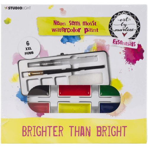 Studio Light Art By Marlene Watercolor Paint Set - Brighter Than Bright Neon