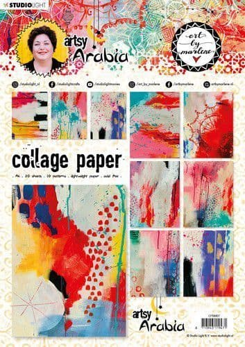 Studio Light Collage Papers - Art by Marlene Artsy Arabia nr.07