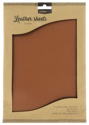 Studio Light Faux Leather Sheets - no. 2 Light Brown