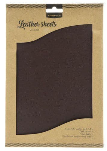 Studio Light Faux Leather Sheets - no. 3 Dark Brown