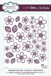 Sue Wilson Craft Dies - Finishing Touches Collection - Camellia Open Petals – CED1422