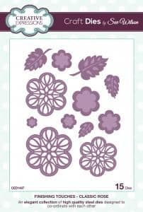Sue Wilson Craft Dies - Finishing Touches Collection - Classic Rose - CED1407